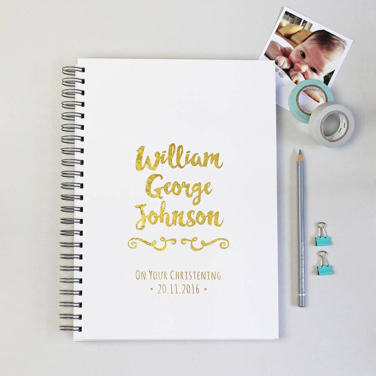 Personalised Baby Christening Gift Book