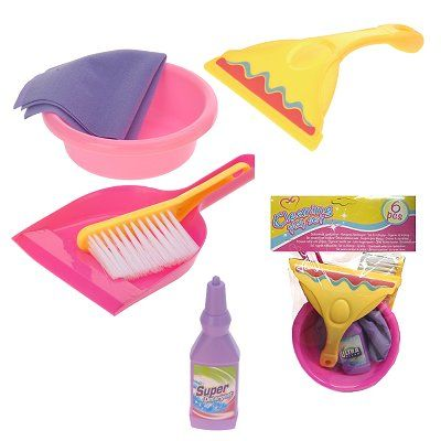 Speelgoed schoonmaakset 6 dlg