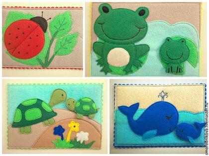 Купить Набор развивающих карточек 3 в 1 - разноцветный, развивающая игрушка, фетр