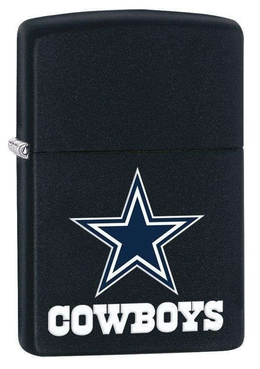 - Made In USA - Zippo Lifetime Warranty - Brand New in Zippo Gift Box Show some Dallas Cowboys team spirit with this NFL Dallas Cowboys Zippo lighter. This windproof lighter features the vibrant colors of theDallas Cowboys and team logo on a black matte finish. This is a perfect gift for someone who loves the Dallas Cowboys or just loves Football. This lighter Comes packaged in an environmentally friendly gift box. For optimum performance, fill with Zippo premium lighter fluid. Go Cowboys!