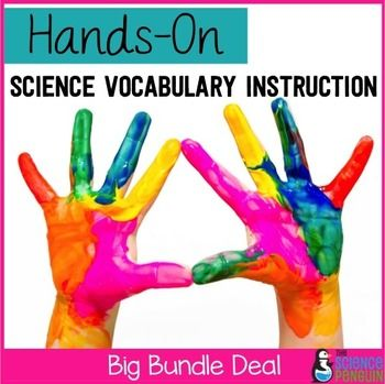 Hands-On Science Vocabulary InstructionTired of having students copy definitions?  Do your students not have the background experiences needed to relate to the vocabulary when it's introduced?  This guide is an opportunity to introduce new science vocabulary using hands-on experiences!There are four parts to each lesson:Part 1: The teacher leads the students in an activity for 10-15 minutes.