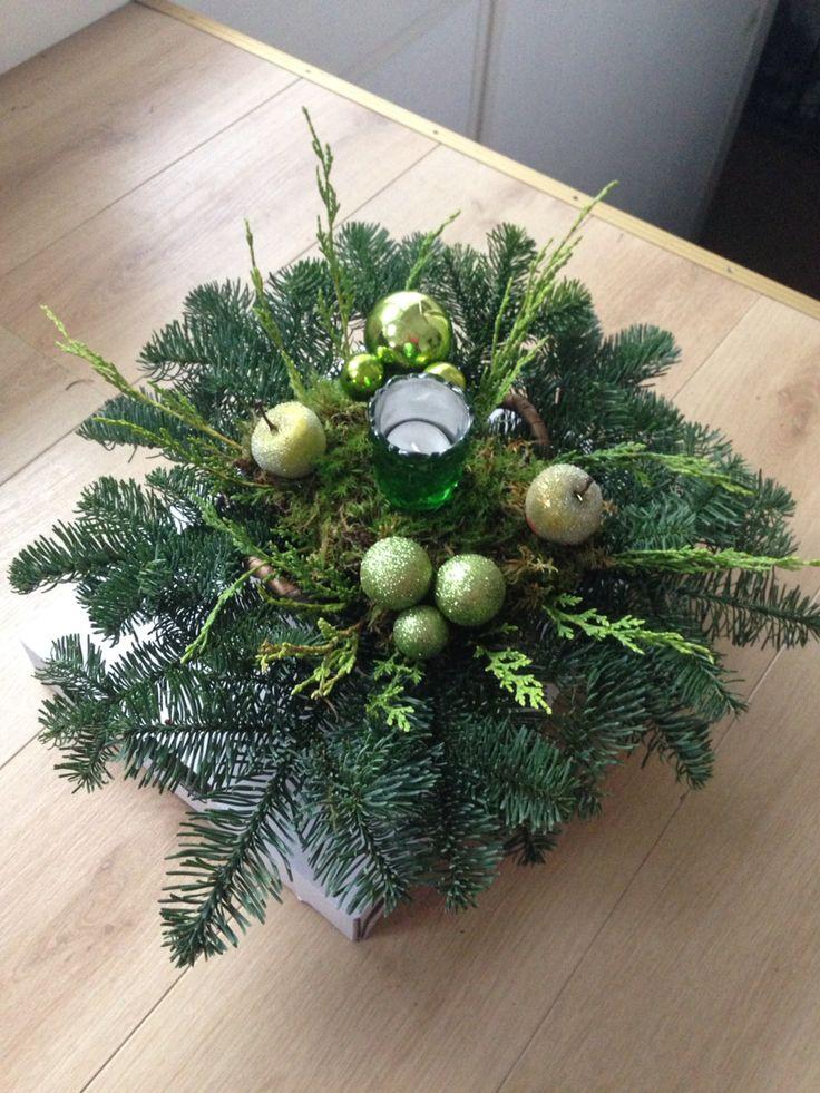 Groen kerststuk