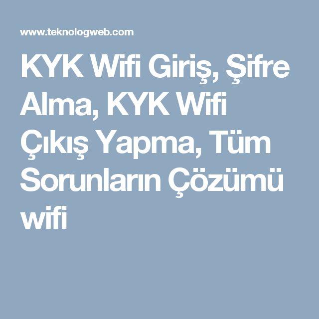 KYK Wifi Giriş, Şifre Alma, KYK Wifi Çıkış Yapma, Tüm Sorunların Çözümü wifi