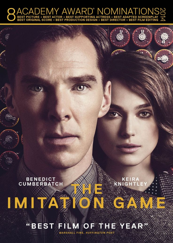 The Imitation Game (2014), starring Benedict Cumberbatch, Keira Knightley, Mark Strong, Rory Kinnear, and Matthew Goode