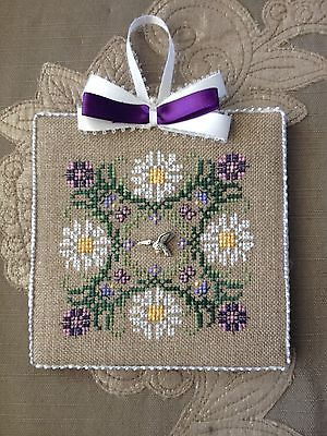 Finished Completed Cross Stitch Ornament Just Nan Thanks a Bunch