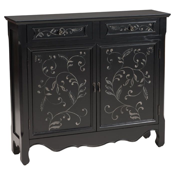 Clarissa Cabinet - Bohemian Black & White on Joss & Main
