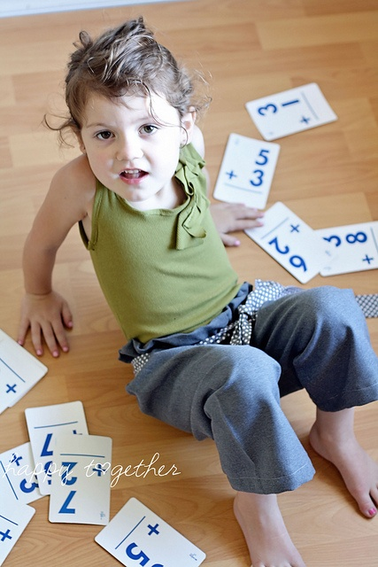 Use flashcards for a back to school photo shoot
