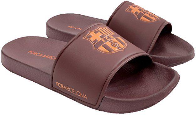 cff111fde65522 FC Barcelona Men Pool Slide Sandal – Water-Resistant Slippers for Beach    Shower