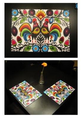 2 dekoracyjne podkładki na stół, model 17
