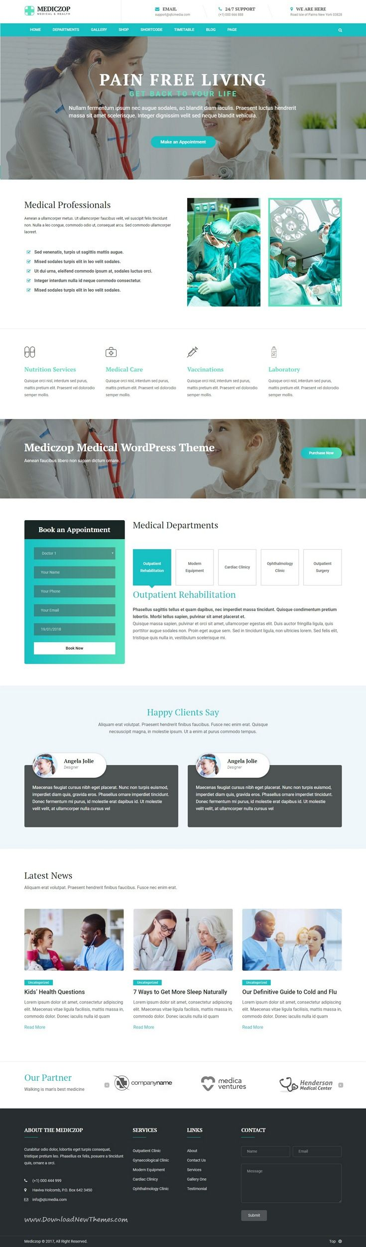 Mediczop is clean and modern deisgn 4in1 responsive WordPress theme for #medical, plastic surgery or dental #clinic website to live preview & download click on Visit   #healthy