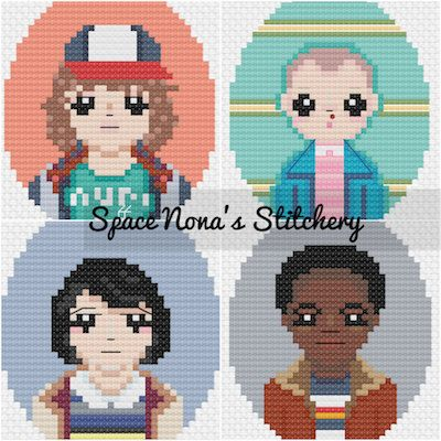 Stranger Things Kids - Cross Stitch Pattern - Downloadable PDF