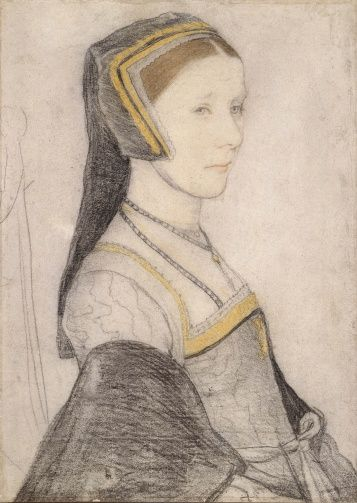 Anne Cresacre (c.1511-1577) - Hans Holbein the Younger (c. 1497-1543) (artist); Black and coloured chalks, c.1527