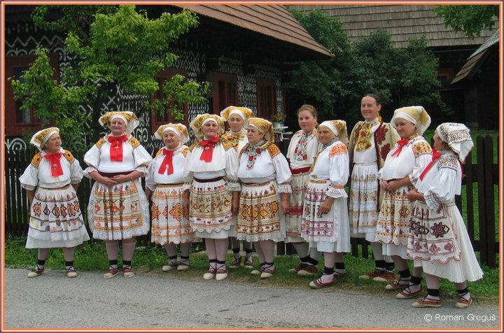 Čičmany, Western Slovakia.