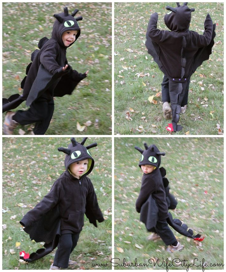 An easy minimal sewing tutorial on making a Toothless dragon costume.