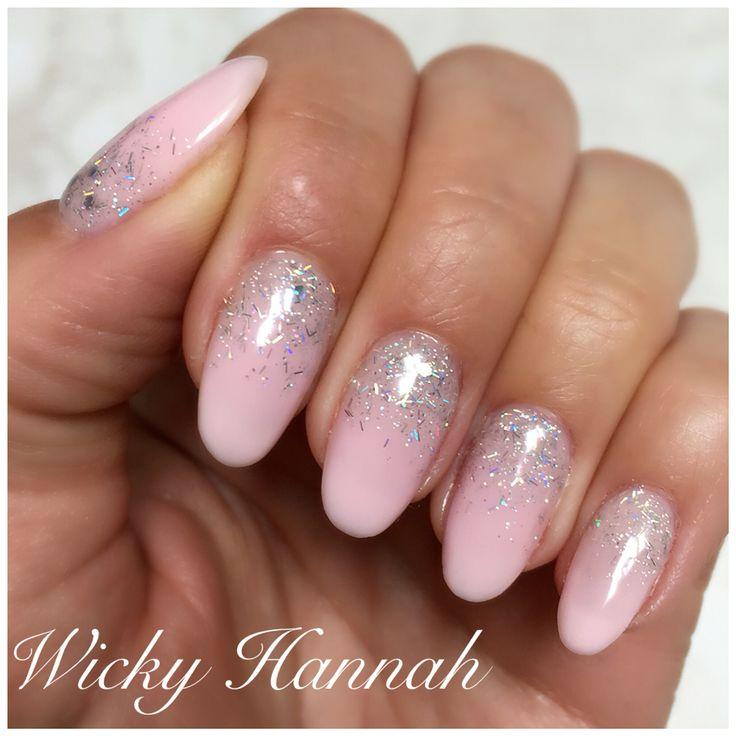Soft pink and glitter   #cherryblossom #Silverflitter #wickyhannah