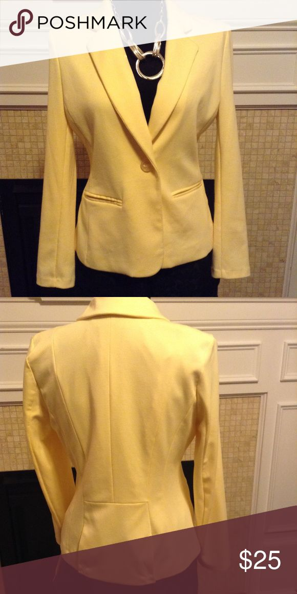 Elements Blazer size PM Single Button Yellow Lined Blazer soft and comfortable EUC  Polyester 77% Rayon 20%  Spandex 3% Elementz Jackets & Coats Blazers