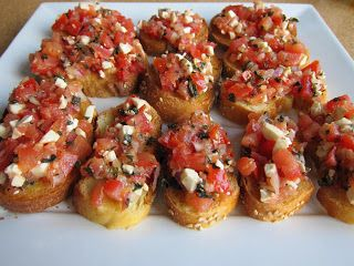 Bruschetta - great appetizer! 1 Weight Watchers pp each!