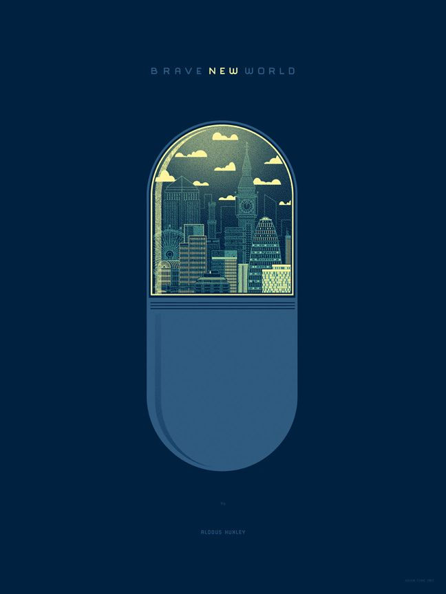 Brave New World by Aldous Huxley | Kevin Tong Illustration | Flickr