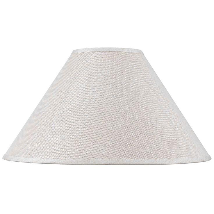 White Hardback Fine Burlap Traditional Lamp Shade (Shade)