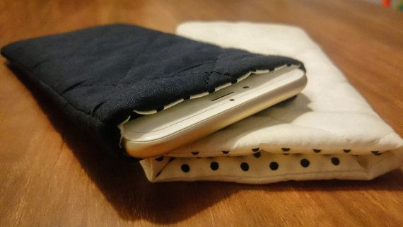 Check out this item on Etsy:  https://www.etsy.com/uk/listing/264694538/quilted-iphone-sleeve