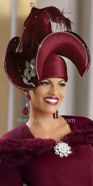 Donna Vinci Couture Church Hat H1373