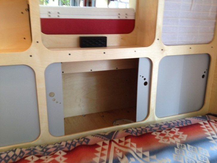 With all the windows and the high quality interior finish, you'll never want to get out of this teardrop camper. A totally unique and modern design.
