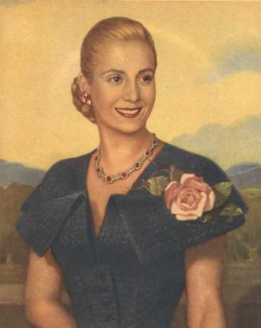 Eva Peron. An official portrait printed on thousands of posters & postcards.