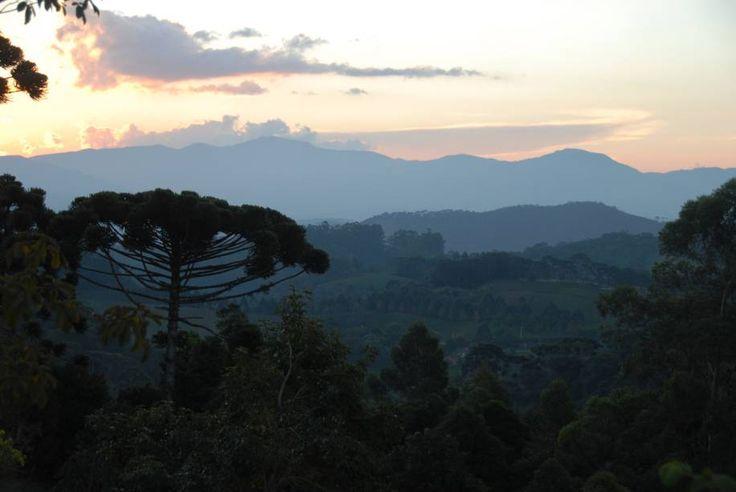 Paisagem da Serra da Mantiqueira, vista a partir da cidade de Santo Antonio do Pinhal