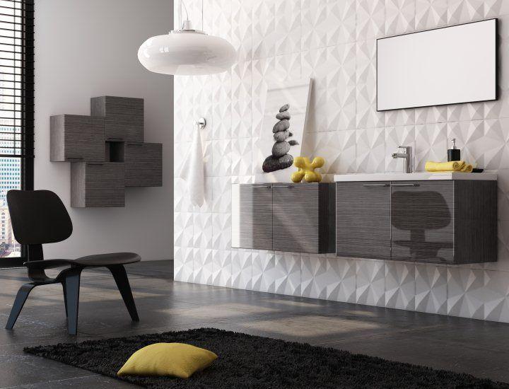 meubles sdb ondine gris rainur laissez vous sduire par cet ensemble de salle - Une Salle De Bain Est Equipee Dune Vasque