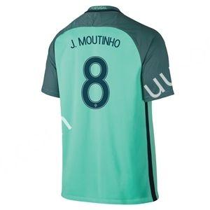 2016 European Cup Portugal J.MOUTINHO Away Green Thailand Soccer Jersey AAA