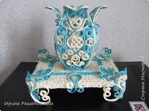 Декор предметов Еще один светильник Небольшой МК Шпагат фото 3