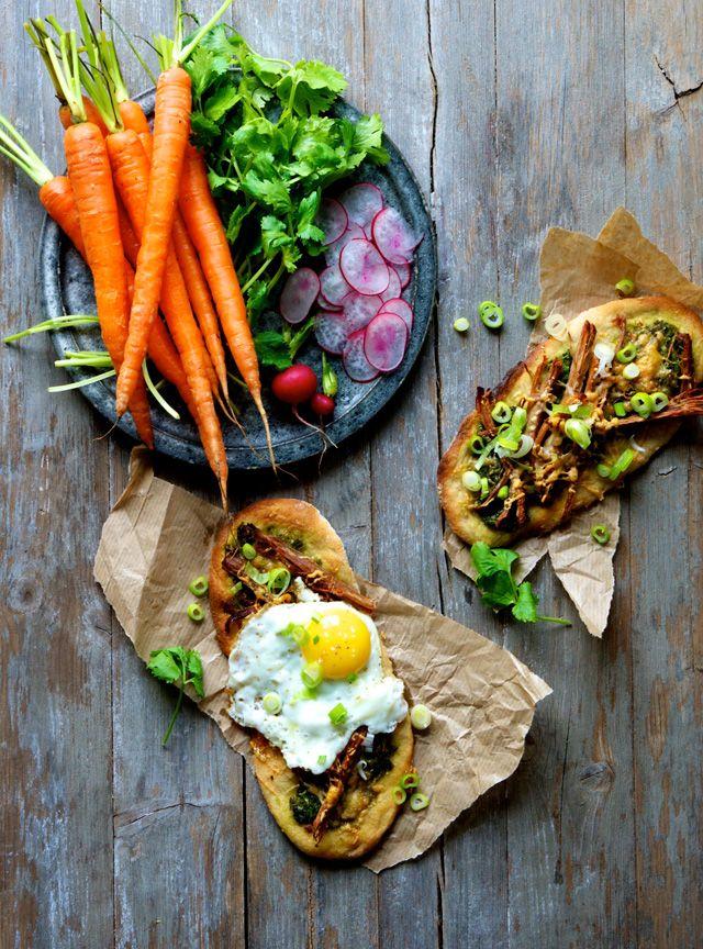 Frokostpizza med køleskabsrester