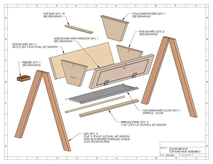 Top Bar Hive Plans http://www.wasatchbeekeepers.com/top-bar-hive-plans-david-bench/