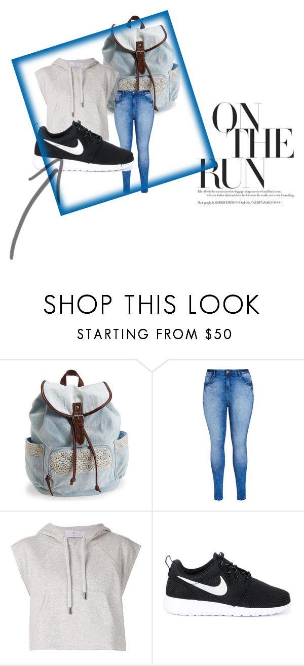 """schoenen sportieve outfit"" by ilse-haesen on Polyvore featuring mode, Aéropostale, City Chic, adidas en NIKE"