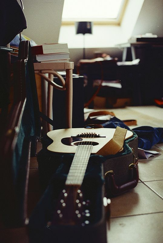 Time to pick up the ol guitar and play! I have played the ukulele for a while now, I think I would enjoy the guitar too! So let's start now! Time to learn!!!