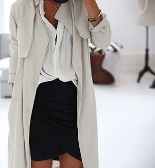 perfectly slouchy. Anyone know where I can get a lightweight trench like this?