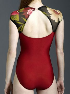 Eleve Leotard, Style: Chris, back of leotard Sleeve Length: Barely over shoulder