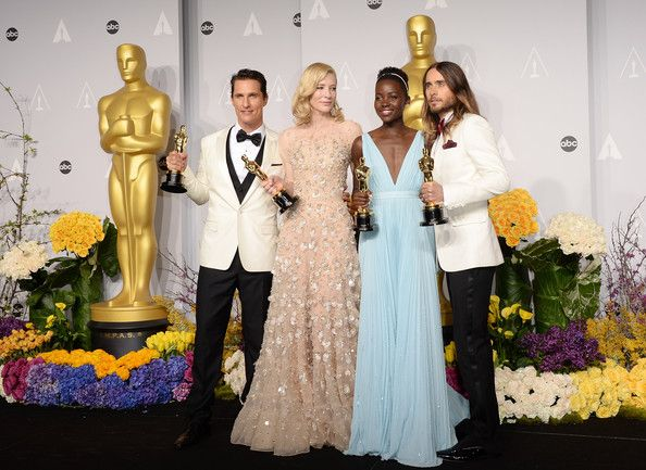 Matthew McConaughey, Cate Blanchett, Jared Leto, Lupita Nyong'o - Press Room at the 86th Annual Academy Awards