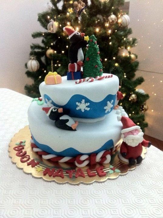 christmas wonky cake