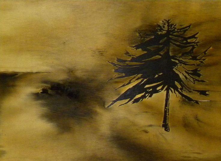 Lian, olio e mordente su tavola, 92X126, 2010