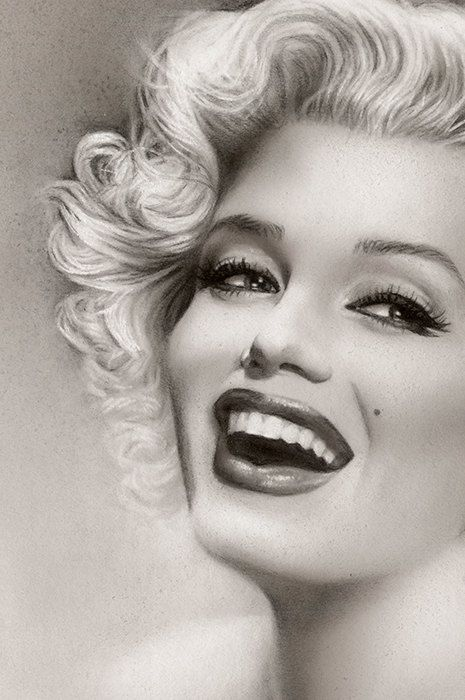 Marilyn Monroe Fine Art Print (close up) by Melody Owen  | This image first pinned to Marilyn Monroe Art board, here: http://pinterest.com/fairbanksgrafix/marilyn-monroe-art/ || #Art #MarilynMonroe