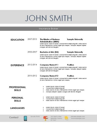 10 best Creative Resume Templates images on Pinterest Creative - resume templates printable