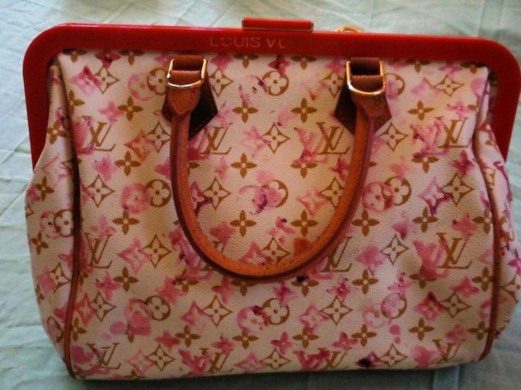 Louis Vuitton Speedy 30 Frame Aquarelle Watercolor #bags #fashion