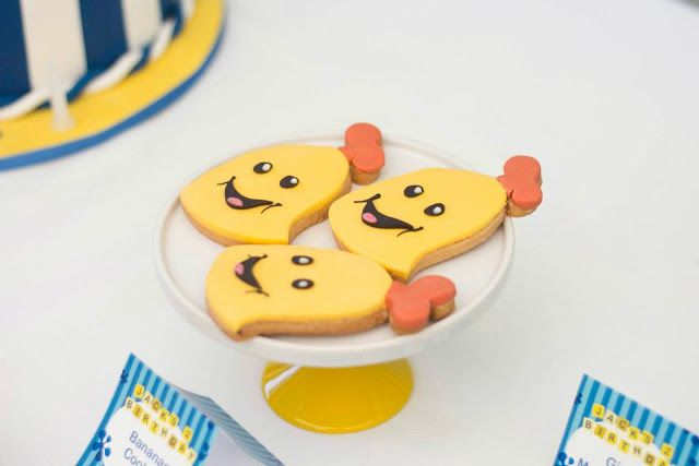 Little Big Company | The Blog: Bananas in Pyjamas Party by Rock Paper Sugar Events Banana cookies