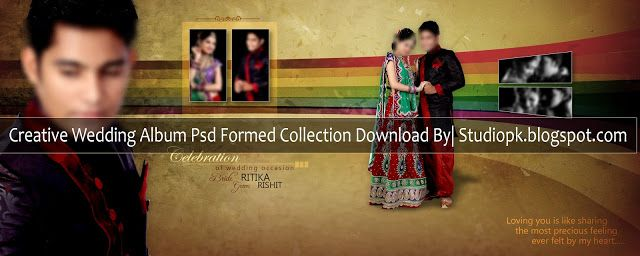 Creative Wedding Album Psd Formed Collection Download