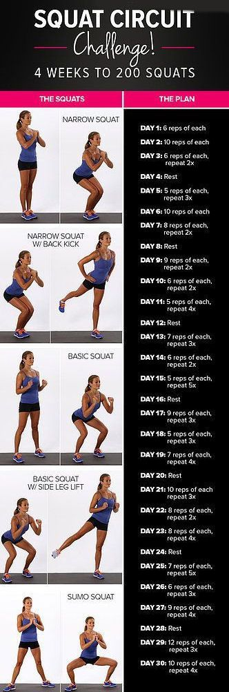 30 Day Squat Challenge #fitness #workout #squat #challenge