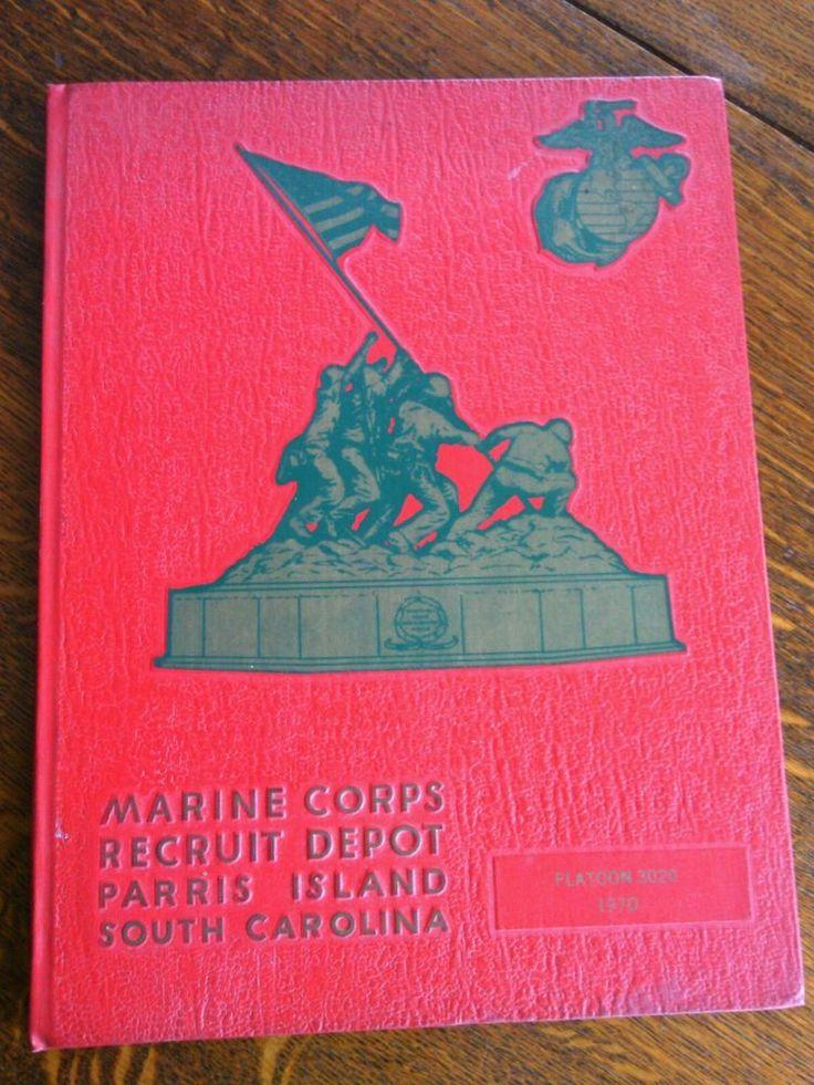Marine Corps Platoon 3020 Recruit Depot Parris Island Book 1970 South Carolina    eBay