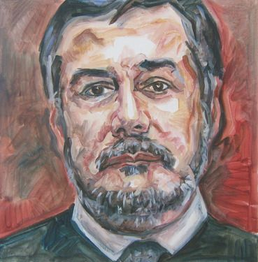 "Saatchi Online Artist Andrea Araneda; Painting, ""Carlos Ríos"" #art"