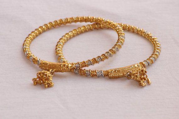 Metal Bangles silver bangle gold bangle bangle indian by HandyStar