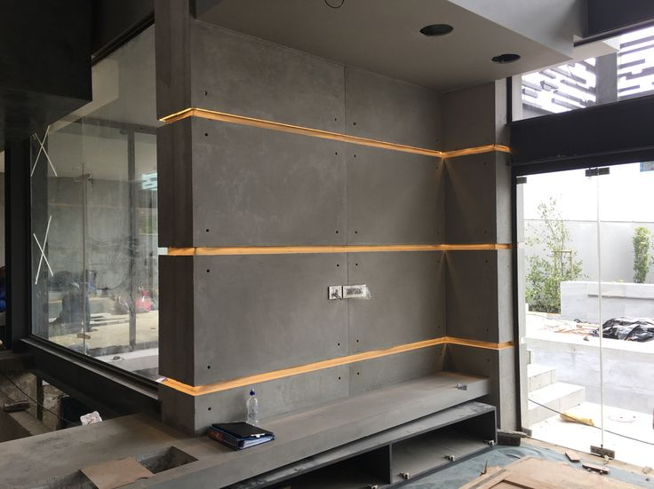 Custom concrete wall panels by FLOAT design